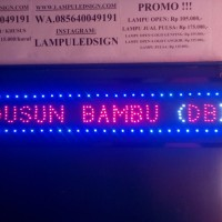 Tulisan Lampu Led Sign DUSUN BAMBU (DB) - LIKE RUNNING TEXT