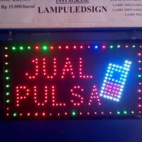Tulisan Lampu Led Sign JUAL PULSA logo HP cantik - LIKE RUNNING TEXT