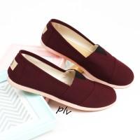 Sepatu Flat Shoes Flatshoes Murah ala Wakai NS55 Maroon