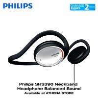 Philips SHS390 Neckband Headphone Balanced Sound Black SHS 390