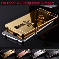 Bumper MIRROR Case Oppo R7 Lite / R7 Plus Casing HP Cover Hard Metal