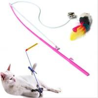 cat toy mainan kucing tongkat bulu pancing tikus