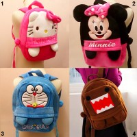 ransel tangan besar boneka domo doraemon hello kitty minnie mouse sd t