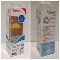PIGEON Wide Neck Bottle 240ml Peristaltic Plus | Botol Dot Bayi