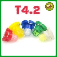 (1Pcs) LED T4.2 Dashboard/Speedometer/Panel AC/Instrument Mobil Motor