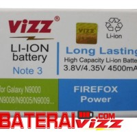 Baterai Viz Samsung Galaxy Note 3 III N900 N9000 Double Power 4500Mah