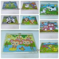 Mainan Edukatif / Edukasi Anak - Puzzle Satuan Bergambar Sapi Ayam Dll