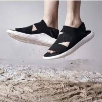 Adidas Y-3 Qasa Sandal Black White Premium Original / sendal Y3 santai