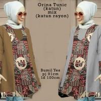 6198 Orina Tunic/baju Tunik Murah/atasan Muslim Wanita/baju Batik