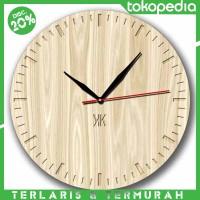 Jam Dinding Motif Texture Kayu - Handicraft Unik Wall Clock - Kool Kat