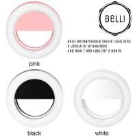 Jual Belli Rechargeable Selfie Ring Light lampu kamera / BIGO Murah