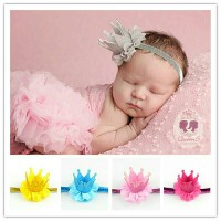 Bandana Bayi Anak Mahkota Crown Tiara Bando | Baby Headband 8