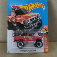 hot wheels 1987 toyota pickup truck merah