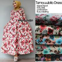 Long Dress Baju Wanita Gamis Maxi Dress Muslim TENRYUUBITO DRESS