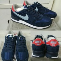 Sepatu Kets Sneakers Nike Internationalist Suede Navy Red Biru Merah