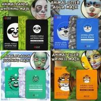 Masker Animal SNP / Facial Mask Gambar Hewan Panda Otter Dragon Tiger