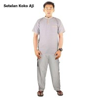 Setelan Baju Koko Aji - Kemeja Plus Celana