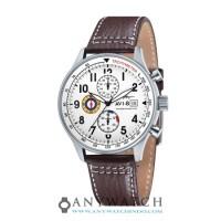 AVI-8 Man Hawker Hurricane Watch White Dial Brown Leather AV-4011-01