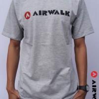 grosir baju kaos tshirt t shirt airwalk abu-abu update