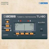 Boss TU-80 (Tuner, Metronome, Chromatic, Gitar, Bass, LCD, Mic)