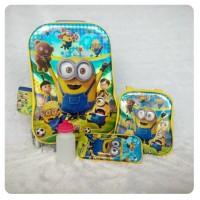 Jual Tas Trolley Anak 4in1 6D Minion Murah
