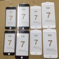 Jual Full Cover Curve Tempered Glass 3D 4D Iphone 7/7 plus + /6/6s PREMIUM Murah