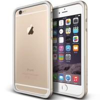 """VERUS iPhone 6 Plus (5.5"""") CASE IRON BUMPER White/Gold"""