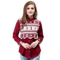Dress / Atasan Wanita Motif Batik Trendy - SRS 482