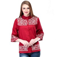 Dress / Atasan Wanita Motif Batik Trendy - SRS 945