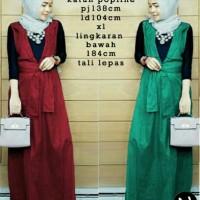 Jual overall dress hijab colour dian pelangi Murah