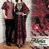Jual couple kaftan satin silk batik super + kemeja pria high quality Murah