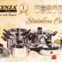Vicenza Panci Set V-612 / Vicenza Stainless Cookware V612
