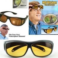 Jual Kacamata Klip on anti Silau HD Vision Isi 1(Kuning) Murah