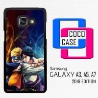 Casing Hp Samsung Galaxy A3,A5,A7 2016 Naruto Vs Sasuke X4506