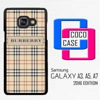 Casing Hp Samsung Galaxy A3, A5, A7 2016 Burberry Wallet Pattern  X443