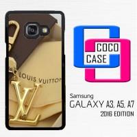 Casing Hp Samsung Galaxy A3,A5,A7 2016 louis vuitton logo gold X4442