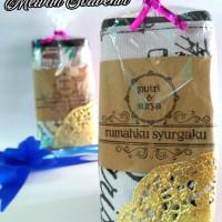 Jual Souvenir pernikahan pouch kanvas motif Murah