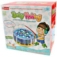 mainan anak pancingan ikan baby fishing game aquarium musik dan lampu