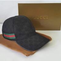 JUAL TOPI GUCCI BASEBALL CAP TG002 BLACK MIRROR QUALITY