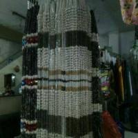 tirai gorden kerang putih kombinasi coklat uk 2M