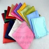 saku tangan saku jas / pocket square silk satin import sse fashion