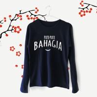 Tumblr Tee / T-Shirt / Kaos Wanita Lengan Panjang Pura Bahagia Navy