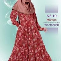 Gamis Muslimah Nibras Syar'i NS 19 Merah