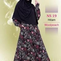Gamis Muslimah Nibras Syar'i NS 19 Hitam