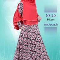 Gamis Muslimah Nibras Syar'i NS 20 Hitam