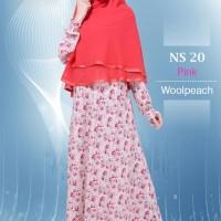 Gamis Muslim Nibras Syar'i NS 20 Pink