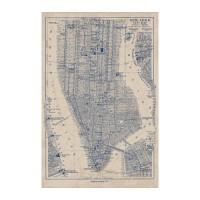 IKEA BILD Poster, peta Manhattan, 61x91 cm