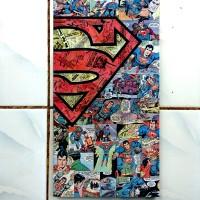 Jual Poster Art Frame Kayu Unik 20x40 - Superhero Series Murah