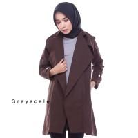 Jaket Wanita Korea Muslimah Hoodie Blazer Ribbon Terbaru Terlaris Coat