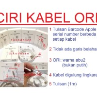 Jual Kabel Charger iPod iPad Pro Air Mini iPhone 5 6 USB Data Original 100% Murah